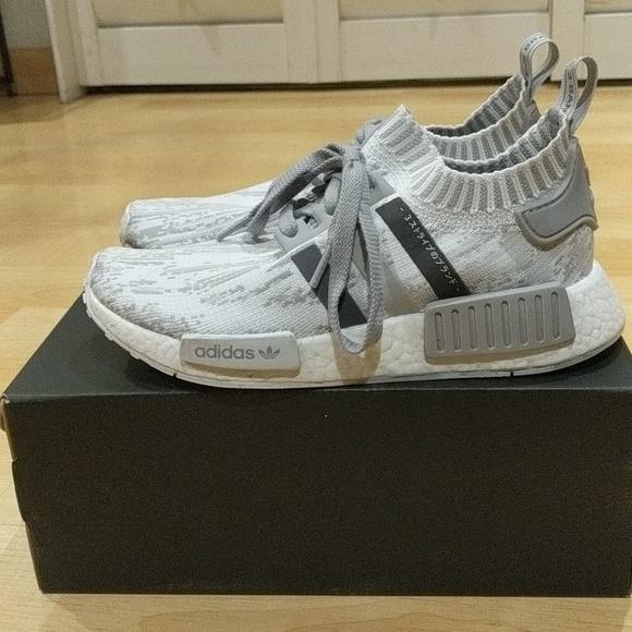 9b0a287359d53 adidas Shoes - NMD R1 Primeknit - Glitch Camo Grey (women s)